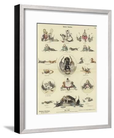 Our Dachshunds--Framed Giclee Print