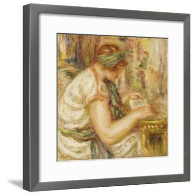 Woman in an Arab Blouse Reading, 1919-Pierre-Auguste Renoir-Framed Giclee Print