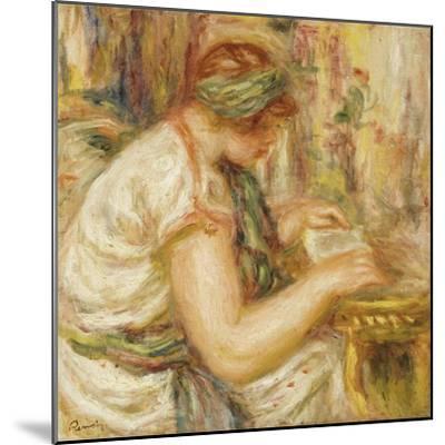 Woman in an Arab Blouse Reading, 1919-Pierre-Auguste Renoir-Mounted Giclee Print