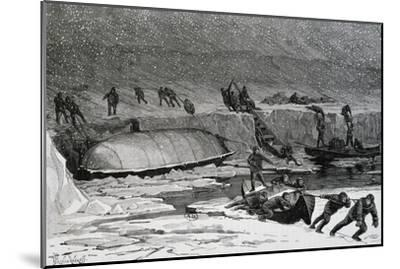 Discovery of Remains of Adolphus Greely'S--Mounted Giclee Print