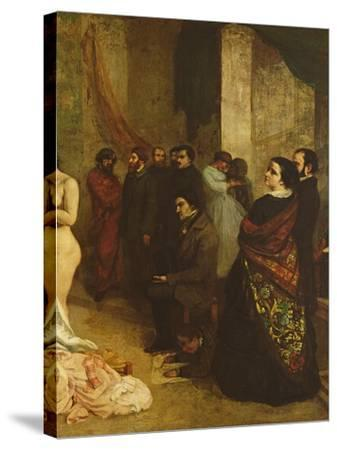 The Studio of the Painter, a Real Allegory, 1855-Gustave Courbet-Stretched Canvas Print