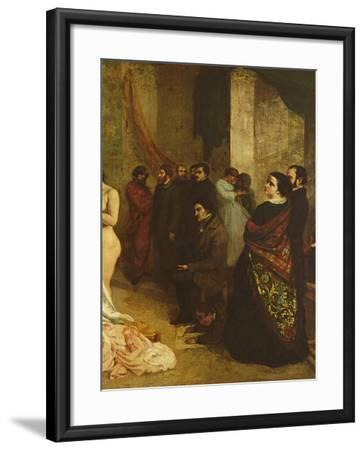 The Studio of the Painter, a Real Allegory, 1855-Gustave Courbet-Framed Giclee Print