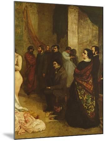 The Studio of the Painter, a Real Allegory, 1855-Gustave Courbet-Mounted Giclee Print