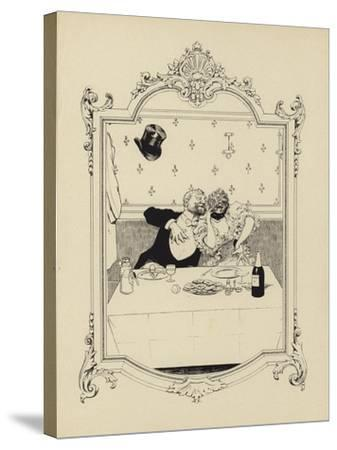 Cartoon from Memoires D'Une Glace-Albert Guillaume-Stretched Canvas Print