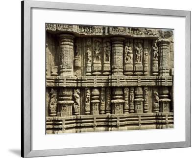 Relief from Hindu Sun Temple in Konarak--Framed Photographic Print