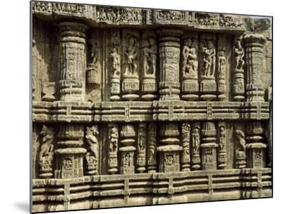 Relief from Hindu Sun Temple in Konarak--Mounted Photographic Print