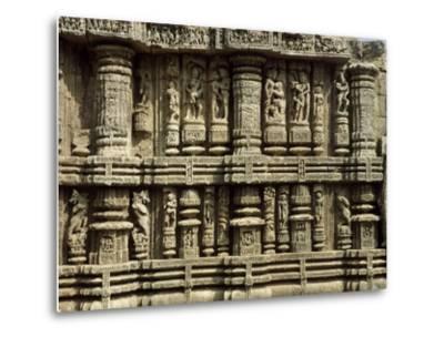 Relief from Hindu Sun Temple in Konarak--Metal Print