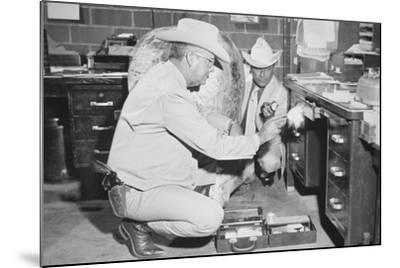 Texas Rangers Investigating a Crime Scene, C.1970--Mounted Photographic Print