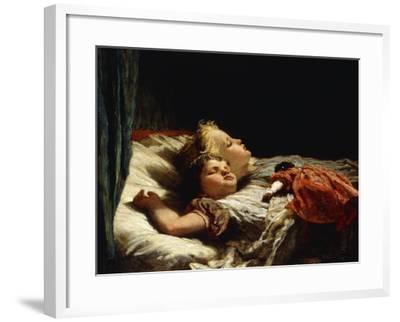 Sweet Slumber-Karl Wilhelm Friedrich Bauerle-Framed Giclee Print