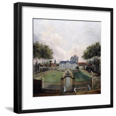 Views of the Chateau De Mousseaux and its Gardens-Jean-Francois Hue-Framed Giclee Print
