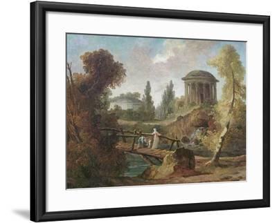 The Cascades at Tivoli, C.1775-Hubert Robert-Framed Giclee Print