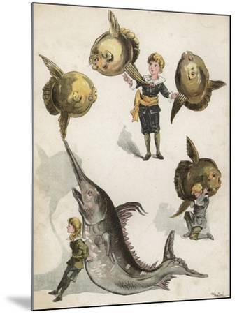 Fish Gymnastics-Richard Andre-Mounted Giclee Print