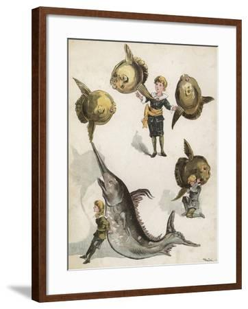 Fish Gymnastics-Richard Andre-Framed Giclee Print