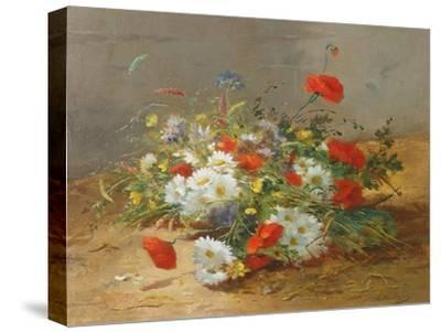 Flower Study-Eugene Henri Cauchois-Stretched Canvas Print