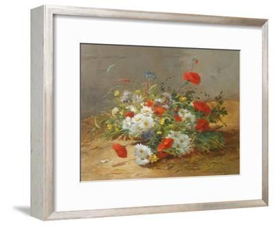 Flower Study-Eugene Henri Cauchois-Framed Giclee Print