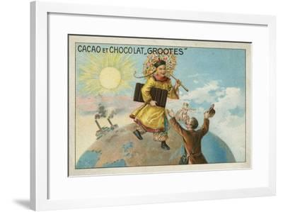 Advertisement for Grootes Cocoa and Chocolate--Framed Giclee Print