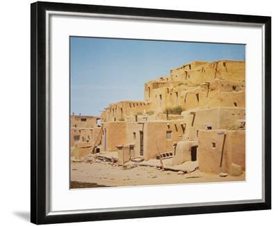 Taos Pueblo, New Mexico--Framed Photographic Print