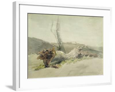 The Fallen Tree, C.1804-Robert Hills-Framed Giclee Print