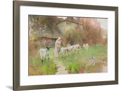 Feeding the Calves-Robert Gustav Meyerheim-Framed Giclee Print