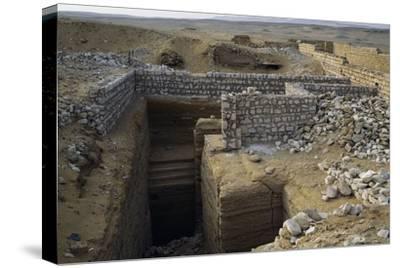 View of Saqqara Necropolis, Memphis--Stretched Canvas Print
