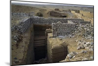 View of Saqqara Necropolis, Memphis--Mounted Photographic Print