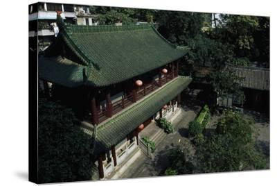 Buddhist Temple of the Six Banyan Trees--Stretched Canvas Print