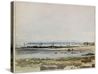 Beach Scene-Samuel Prout-Stretched Canvas Print