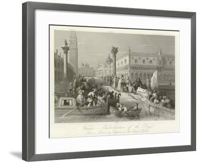 Venice - Embarkation of the Doge--Framed Giclee Print