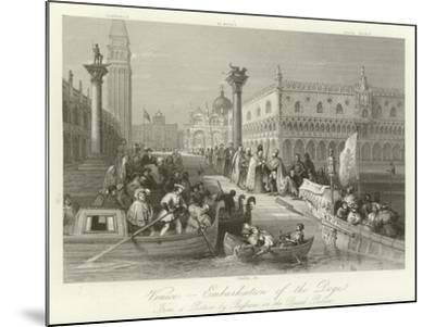 Venice - Embarkation of the Doge--Mounted Giclee Print