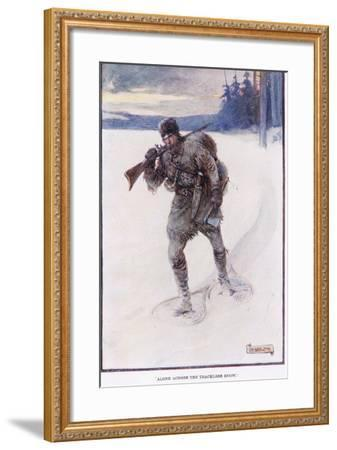 La Salle Alone Accross the Trackless Snow-Joseph Ratcliffe Skelton-Framed Giclee Print