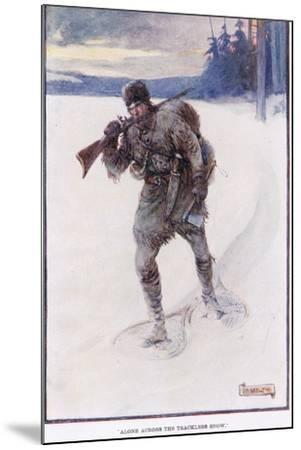 La Salle Alone Accross the Trackless Snow-Joseph Ratcliffe Skelton-Mounted Giclee Print