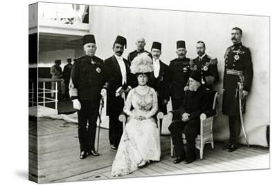 Group at Port Said, 1911--Stretched Canvas Print