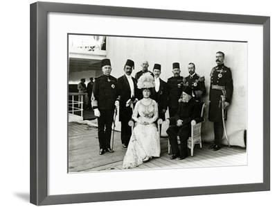 Group at Port Said, 1911--Framed Photographic Print