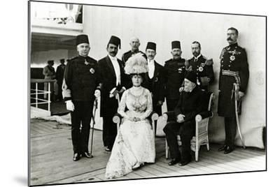 Group at Port Said, 1911--Mounted Photographic Print