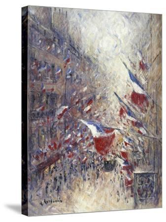 The Fourteenth of July in Paris-Gustave Loiseau-Stretched Canvas Print