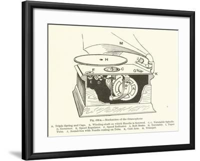 Mechanism of the Gramophone--Framed Giclee Print