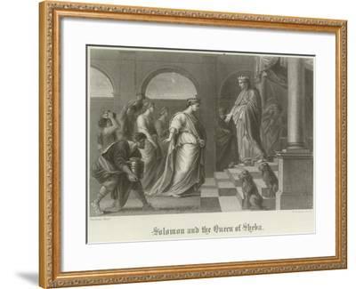 Solomon and the Queen of Sheba-Peter Paul Rubens-Framed Giclee Print