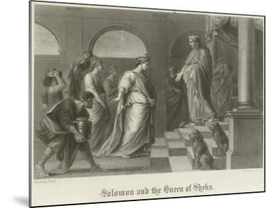 Solomon and the Queen of Sheba-Peter Paul Rubens-Mounted Giclee Print