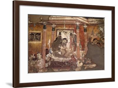 India, Fresco in Ajanta Caves--Framed Photographic Print