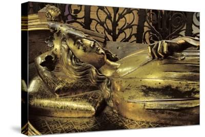 Tomb Figure of Eleanor of Castile--Stretched Canvas Print