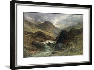 Gorge in the Mountains, 1878-Gustave Dor?-Framed Giclee Print