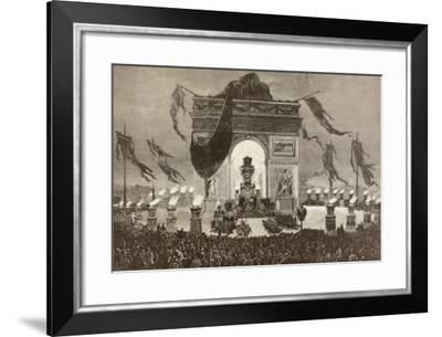 The Coffin of French Writer Victor Hugo--Framed Giclee Print