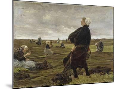 Repairing the Nets, 1889-Max Liebermann-Mounted Giclee Print