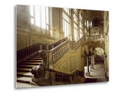 The Grand Staircase, Palazzo Madama--Metal Print