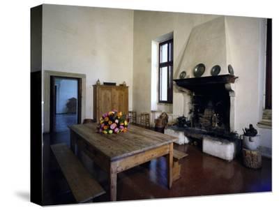 Glimpse of Large Kitchen, Villa Pisani-Bonetti--Stretched Canvas Print