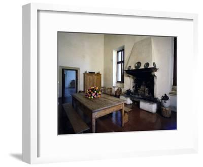 Glimpse of Large Kitchen, Villa Pisani-Bonetti--Framed Photographic Print