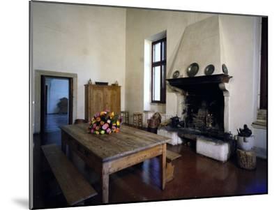 Glimpse of Large Kitchen, Villa Pisani-Bonetti--Mounted Photographic Print