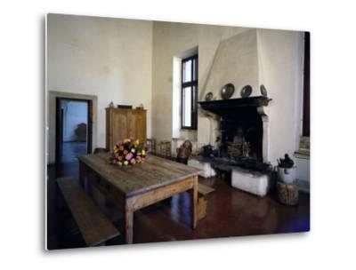 Glimpse of Large Kitchen, Villa Pisani-Bonetti--Metal Print