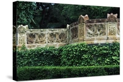 Terracotta Balcony, Caltagirone Public Gardens--Stretched Canvas Print