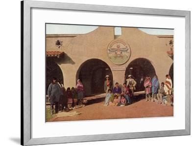 Indian Building, Albuquerque, New Mexico--Framed Photographic Print